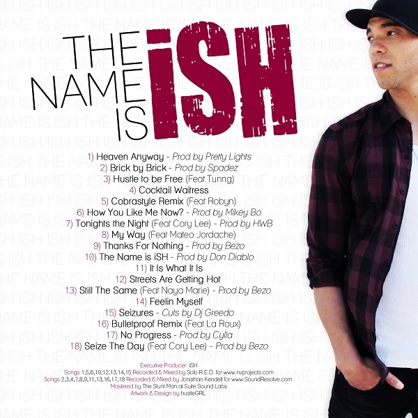 ISH BACK New! iSH   *The Name Is iSH* (Free LP)