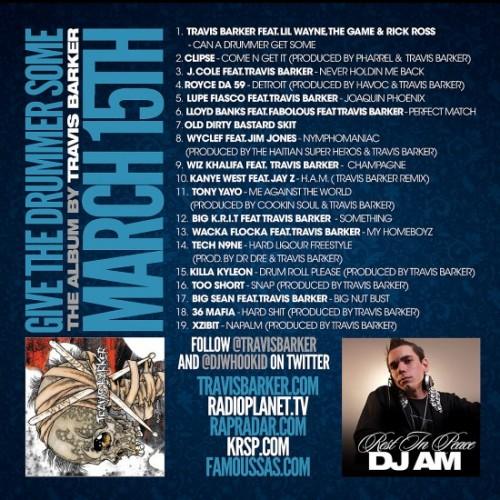 TravisBarkerWhooKidback1 550x550 500x500 Travis Barker & DJ Whoo Kid   Let the Drummer Get Wicked (Mixtape)