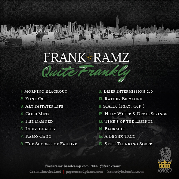 QF Back Album: Frank Ramz   Quite Frankly