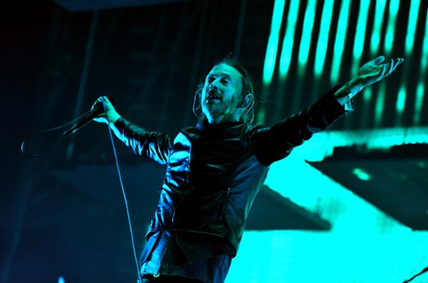 Thom Yorke Radiohead performing Coachella 600x397 Video: Radiohead Live at Coachella