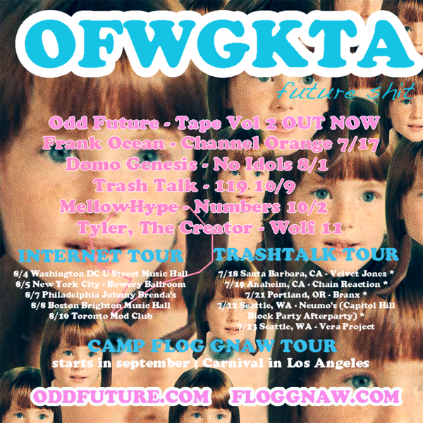 OFWGKTA releases Odd Future Announces Release & Tour Dates