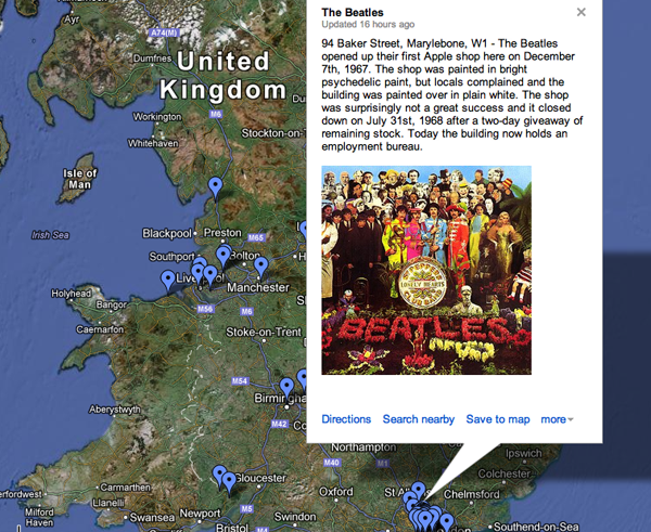 uk invasion map Explore the British Invasion With an Interactive Google Map