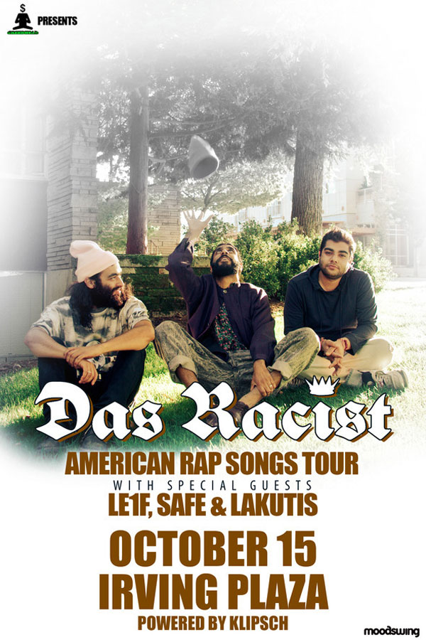 dasracistfinal Contest: Win A Pair of Tickets To See Das Racist at Irving Plaza
