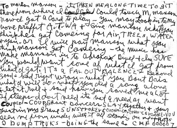mansontomanson Charles Mansons Open Letter To Marilyn Manson