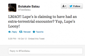 Screen shot 2012 10 16 at 6.04.47 PM 300x197 25 Hilarious Tweets About Lupe Fiascos Alien Encounter