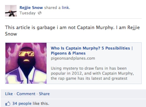 rejjie snow pigeons and planes Rejjie Snow Says He Is Captain Murphy