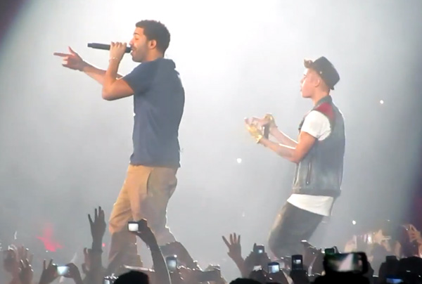 drake bieber Watch Drake and Justin Bieber Perform Together in Toronto