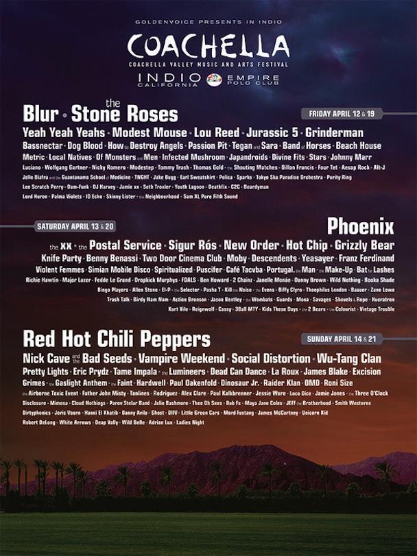Coachella Coachella 2013 Lineup Revealed