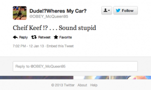 Screen Shot 2013 01 15 at 9.01.35 AM 300x180 25 People Who Call Chief Keef Stupid but Cant Spell Chief
