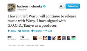 Screen Shot 2013 01 19 at 1.21.33 PM 300x176 Hudson Mohawke Confirms Signing With Kanye as a Producer