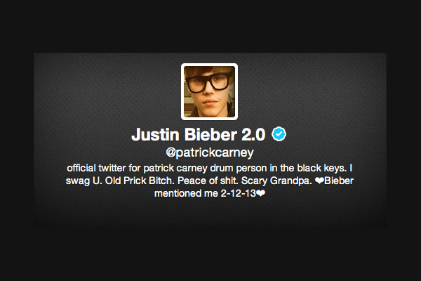 carney The Black Keys Patrick Carney Assumes Identity of Justin Bieber on Twitter, Confuses Bieber Fans
