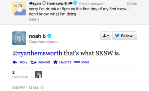 111904 300x185 The Week on Twitter: SXSW Edition