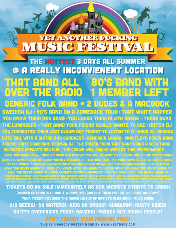 Another Fucking Festival Parody Poster