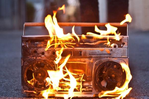 burning-boombox