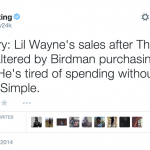 Theory: Weezy Realized Birdman's Been Buying His Albums